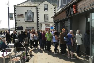 The queue outside of Fish Face.