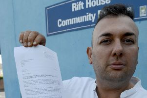 Hartlepool Borough Councillor Stephen Akers Belcher with his Labour Party letter. Picture by FRANK REID