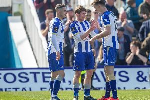 Pools won their first game in four against Halifax Town this afternoon (Shutterpress).
