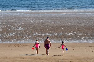 Enjoying the Easter Bank Holiday Monday weather at Seaton Carew.