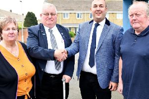 (Left to right) Councillor Sandra Belcher, Socialist Labour Party North East President Frank Harrison, Councillor Stephen Akers-Belcher and Councillor Allan Barclay. Picture by Frank Reid.
