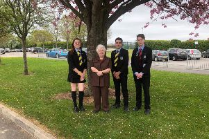 Joanna with students