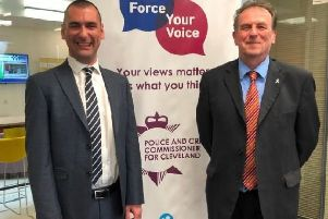 New Chief Constable Richard Lewis with PCC Barry Coppinger.