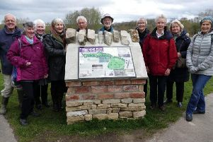 Members of the Hookstone and Stonefall Action Group (HASAG) with the new information board.
