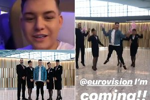Hartlepool Eurovision star Michael Rice is on his way to Tel Aviv.