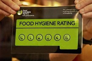 Food hygiene ratings run from zero to five.