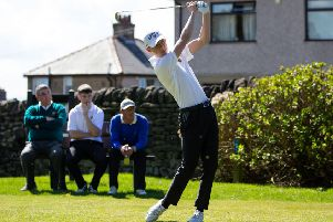Home club player Max Nicholson at West End on Sunday