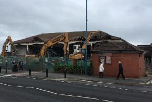 Demolition work starts on the former Longscar building in Seaton Carew at the weekend.