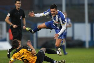 Hartlepool United skipper Ryan Donaldson is one of a number of players still in talks about a contract extension (Shutterpress).