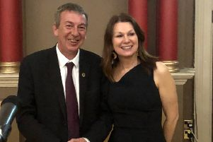 Hartlepool MP Mike Hill with Sue Hayman, Labour's Shadow Environment Secretary on a visit to the town.