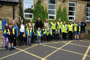 Members of 6th Morpeth Scouts took part in the litter-pick as part of its Scout Community Week.
