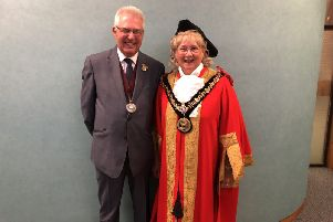 Hartlepool mayor, Coun Brenda Loynes, with husband Den.