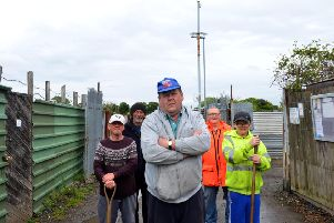 Burn Valley Allotment holders are angry over Hartlepool Borough Council removal of CCTV cameras. Front John Hays. Back from left Ronnie Suckling, Davey Dodds, Sydney Smurthwaite and John Hays (jnr).