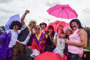 Many festivalgoers got into the spirit of Let's Rock the North East by dressing up.