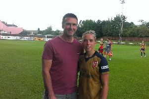 Jordan Nobbs, with dad Keith, the former Hartlepool United defender