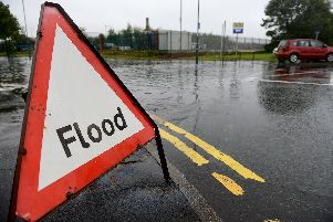 Heavy rain has caused flooding in Hartlepool.