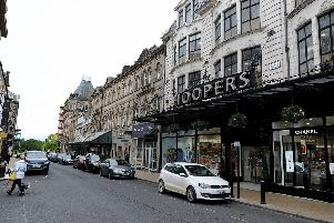 James Street, a key shopping street in Harrogate - but should there be more free parking in the town centre.