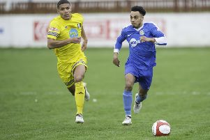 Tyler Williams in his previous spell with Frickley Athletic.