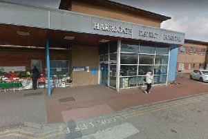 Police were called to Harrogate District Hospital at 12.16pm today (Wednesday) following reports of a man using a baseball bat to smash vehicle and building windows.