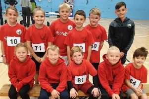 Some of the Parish youngsters who took part in the biathlon event.