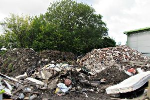 Waste piled high at the ETA site