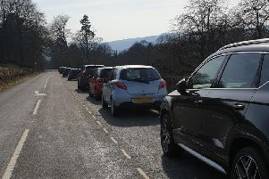 Despite health warnings, hundreds of people headed to the Peak District (Image: Derbyshire police)