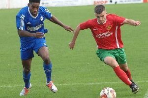 Harrogate Railway remain rooted to the foot of the NCEL Premier Division table after drawing 2-2 at Goole. Picture: Adrian Murray