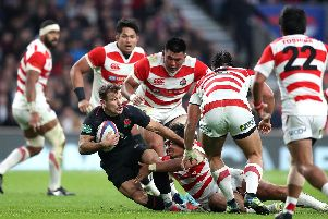 Danny Care goes on the attack against Japan (PA)