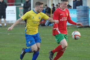 Sean Hunter in action against Garforth Town. Picture: Adrian Murray