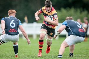 Harrogate RUFC lost out on the road at Hull. Picture: Caught Light Photography
