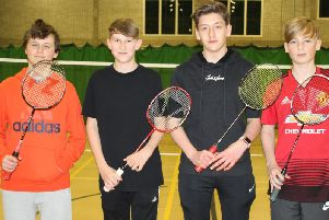 The High Fliers Four team which drew 7-7 with Acorn Three, are, from left, Lewis Dowson, Chris Smith, Jamie Hussain and Ashton Dowson