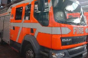 Two fire engines from Burnley attended the scene