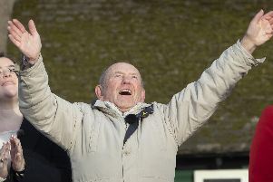 Tony Foulds looked on in awe as the flypast came over Sheffield.