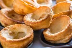A tray full of home baked Yorkshire puddings