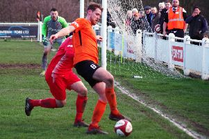Brighouse Town v Stamford'James Hurtley on the ball for Brighouse'Picdture: Steve Ambler