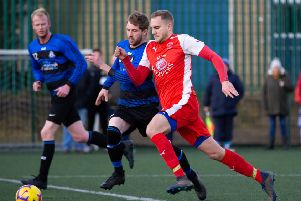 Shelf United v Hebden Royd RS at Lightcliffe Academy. Pictured is Star's James Chadwick