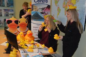Ducks get ready for the big race at the Travel Centre Mytholmroyd