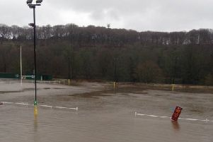 Heath RUFC flooding'View from the balcony in the clubhouse