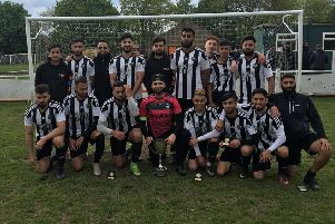 FC Panda after Sunday's 5-0 Senior Cup final win over Waiters Arms