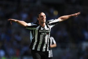 Andy Carroll pictured while a Newcastle United player.