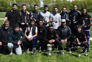 FC Panda players with their rich trophy haul