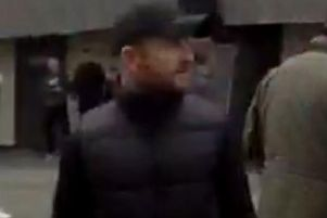 Police say they want to speak to this man following disorder at the Sunderland v Coventry City game at the Stadium of Light on Saturday, April 13.
