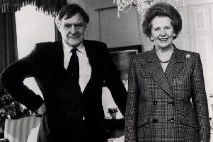 Sir Bernard Ingham with Margaret Thatcher