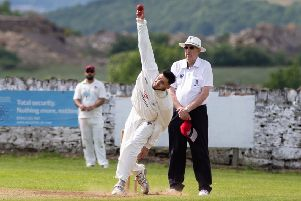Rastrick v Elland. Osama Ahmed was among the wickets.