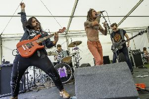 Picture by Allan McKenzie/YWNG - 28/07/18 - Press - Clarence Park Music Festival, Clarence Park, Wakefield, England - The Sourheads.