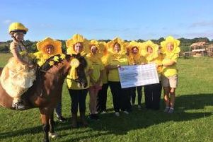 A pony trek raised funds for St Catherine's Hospice