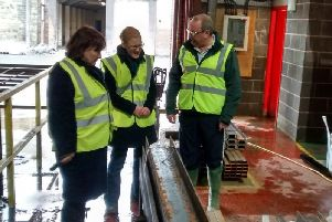 Holly Lynch visited Pulman Steel, Sowerby Bridge, in the immediate aftermath of the flooding on Boxing Day 2015