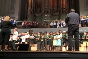 Concert: Calderdale Massed Ensemble performs at the Music for Youth National Festival.
