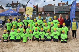 Group of children who took part in Bridlington today