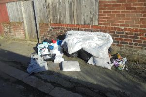 Evidence of fly-tipping